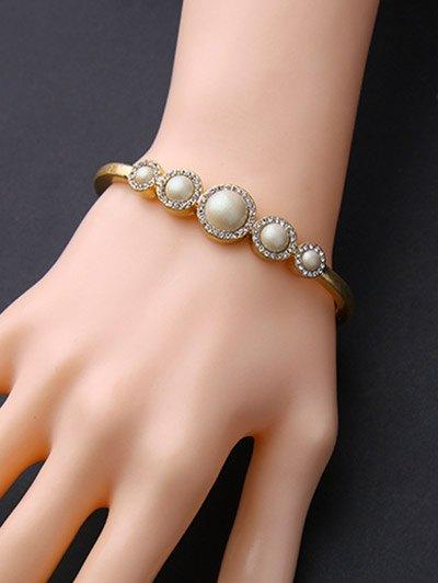 Rhinestone Artificial Pearl Bracelet