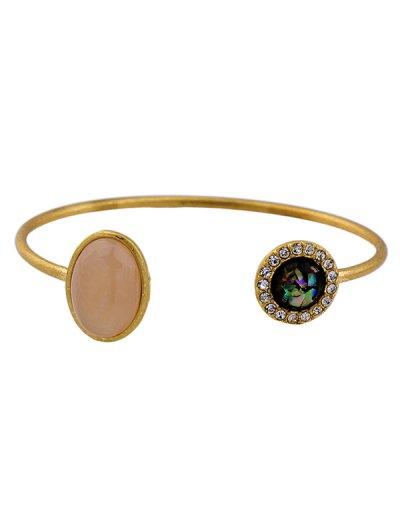 Artificial Gem Rhinestone Cuff Bracelet