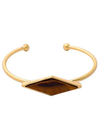 Rhombus Faux Gem Cuff Bracelet