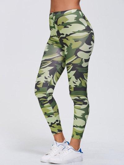 Camo Print Stretchy Gym Leggings