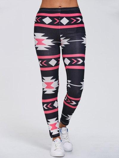 Geometric Print Stretchy Gym Leggings