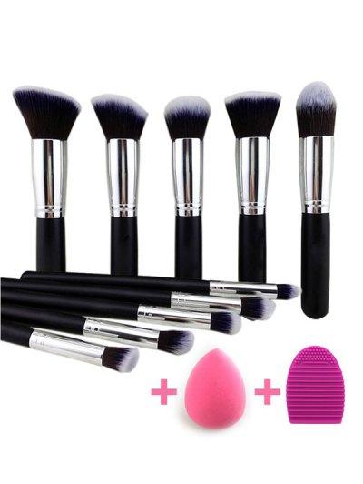 10 Pcs Makeup Brushes Set Beauty Blender Brush Egg