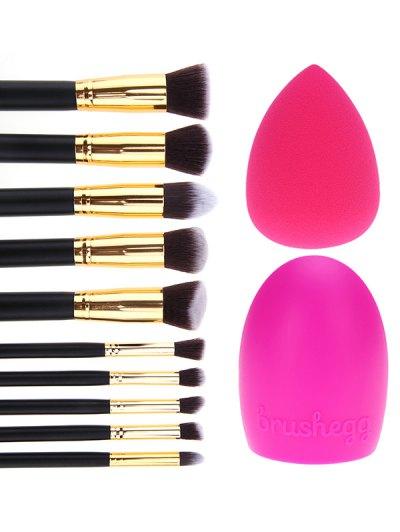 10 Pcs Makeup Brushes Set Brush Egg Beauty Blender