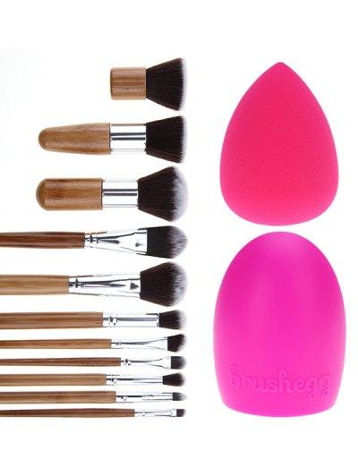 11 Pcs Makeup Brushes Set Brush Egg Beauty Blender