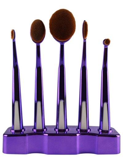 5 Pcs Nylon Toothbrush Shape Makeup Brushes Set with Brush Stand