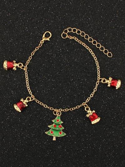 Rhinestone Christmas Tree Charm Bracelet