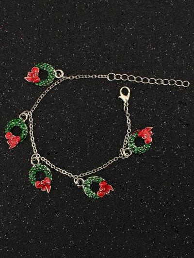 Bows Christmas Garland Charm Bracelet