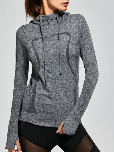 Quick Dry Zipper Sports Hooded Jacket