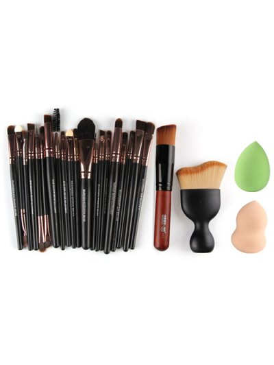 20 Pcs Eye Makeup Brushes Set Foundation Brush Blush Brush Beauty Blenders