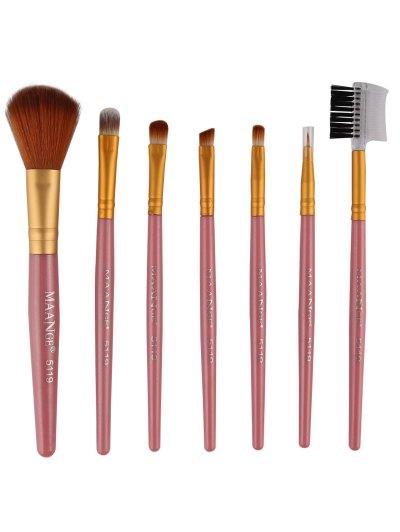 7 Pcs Fiber Makeup Brushes Set