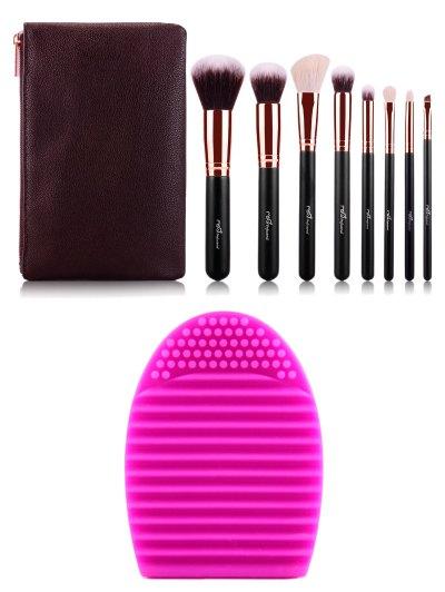 8 pcs Makeup Brushes Kit Brush Egg
