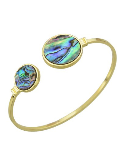 Faux Gem Circle Cuff Bracelet