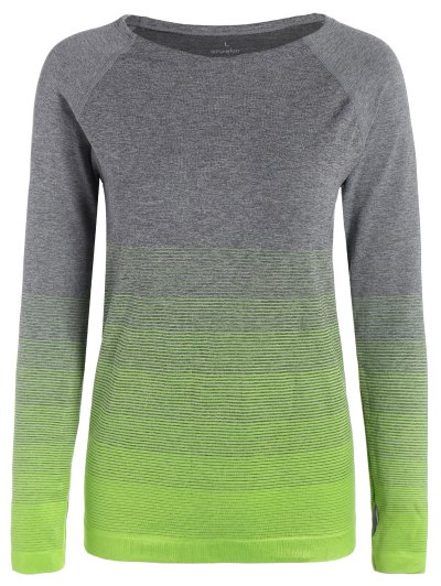 Ombre Sports Tee With Thumb Hole