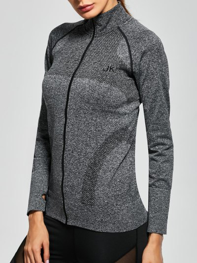 Quick Dry Zipper Work Out Jacket