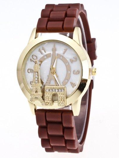 Eiffel Tower Silicone Quartz Watch