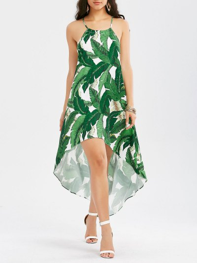 Zaful High Low Dress with Palm Leaf Print