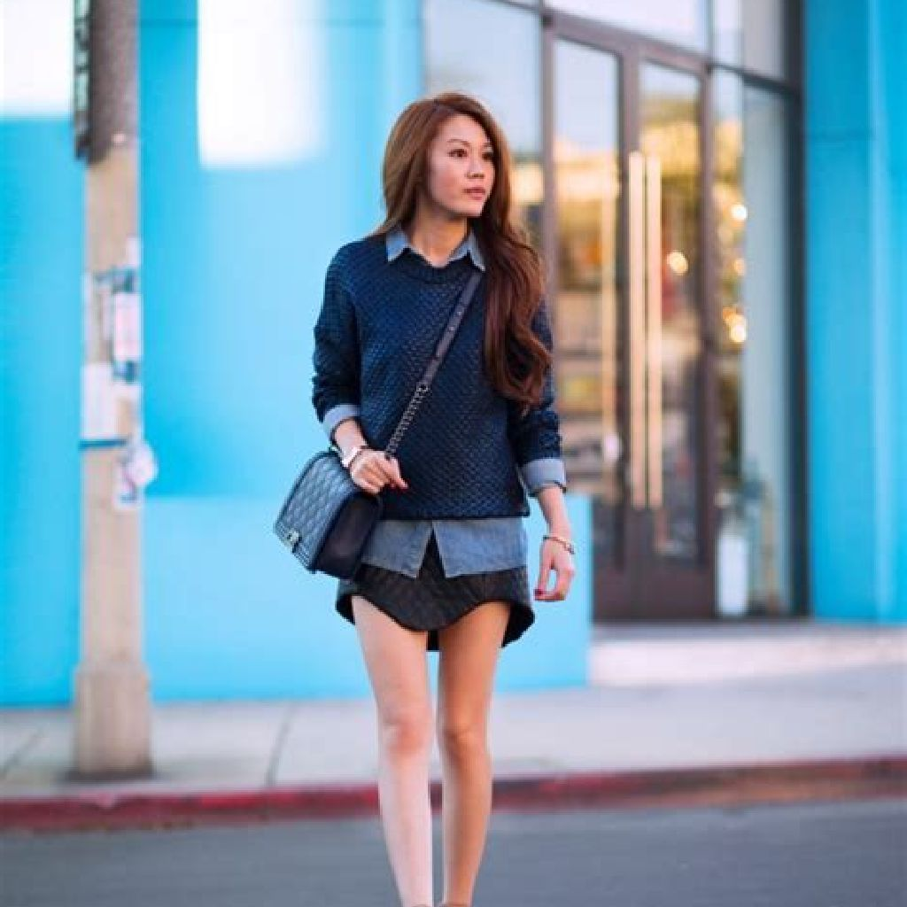 Chic Sweater Combination Ideas Suitable For Fall And Winter 04