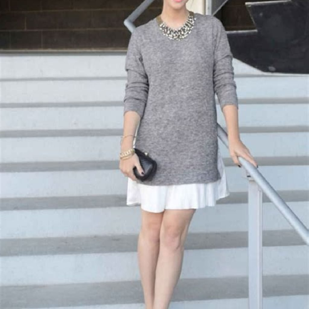 Chic Sweater Combination Ideas Suitable For Fall And Winter 07