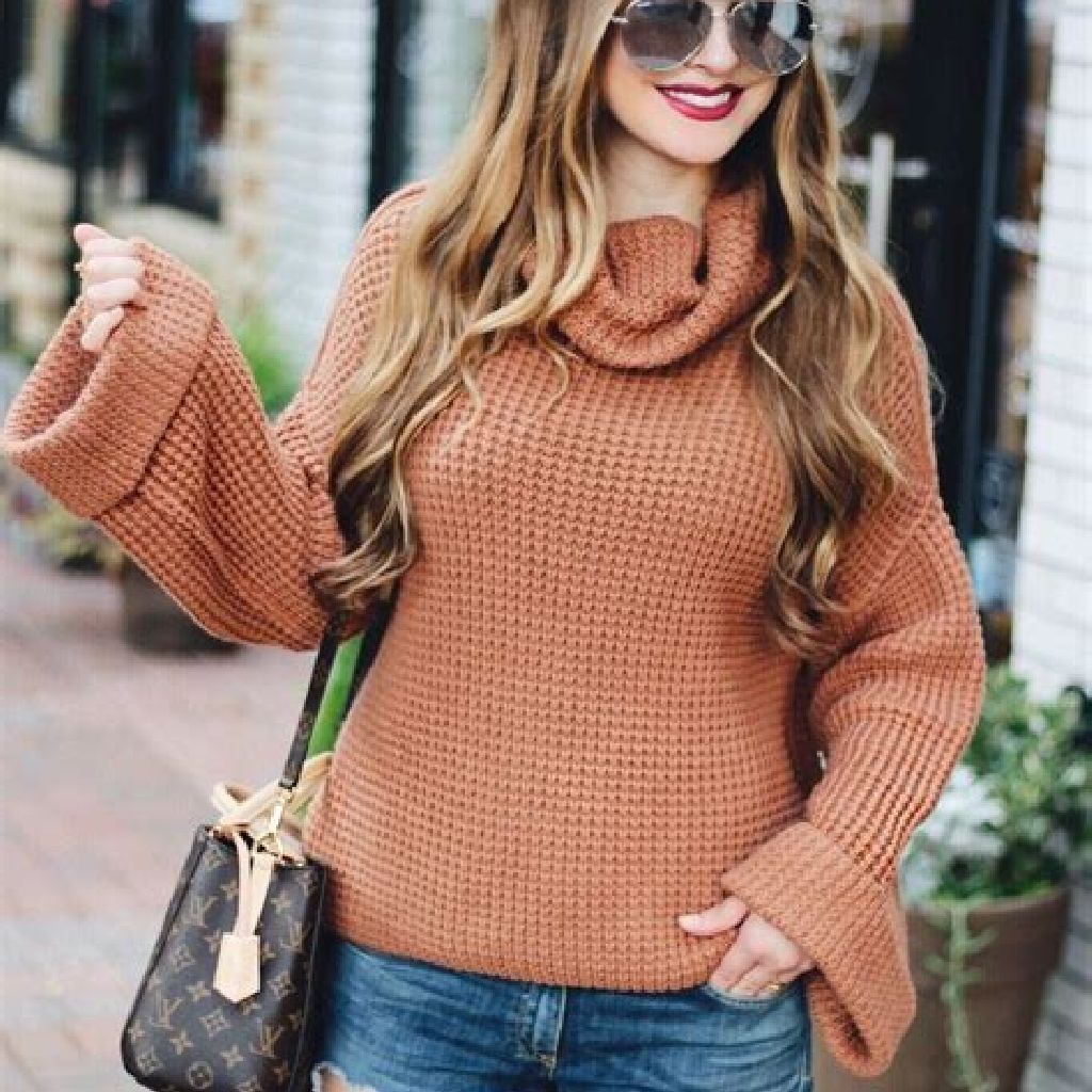 Chic Sweater Combination Ideas Suitable For Fall And Winter 26