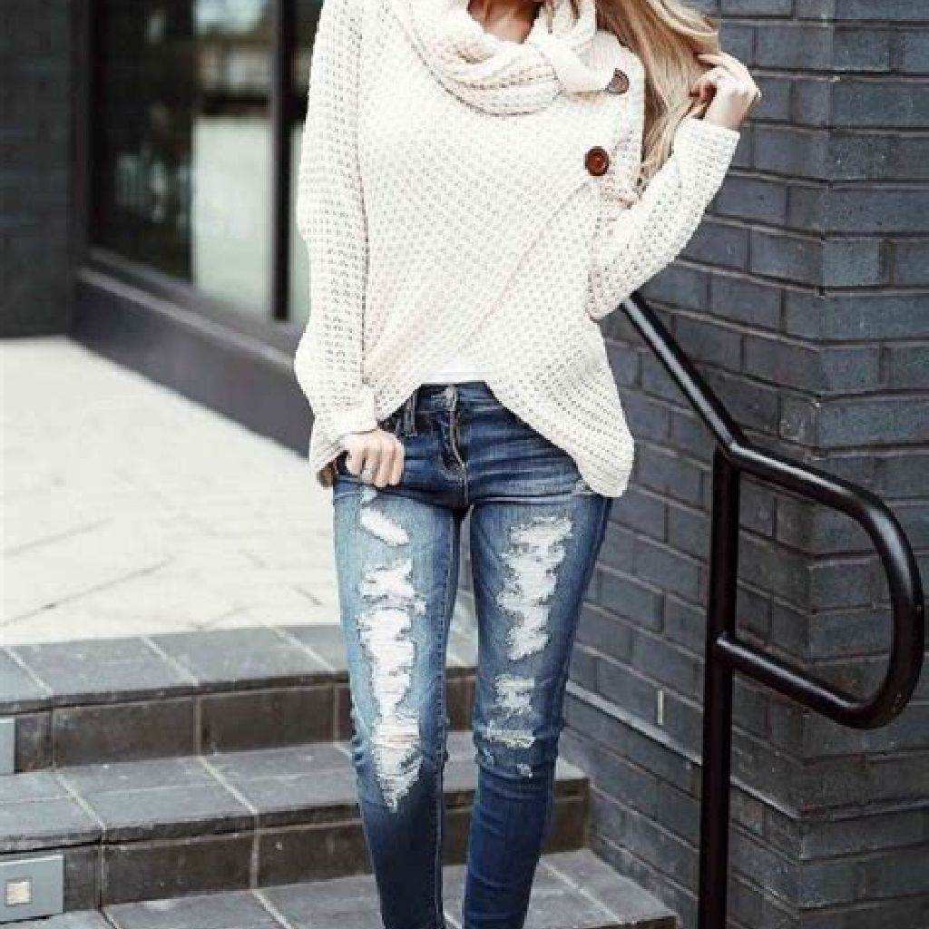 Chic Sweater Combination Ideas Suitable For Fall And Winter 28