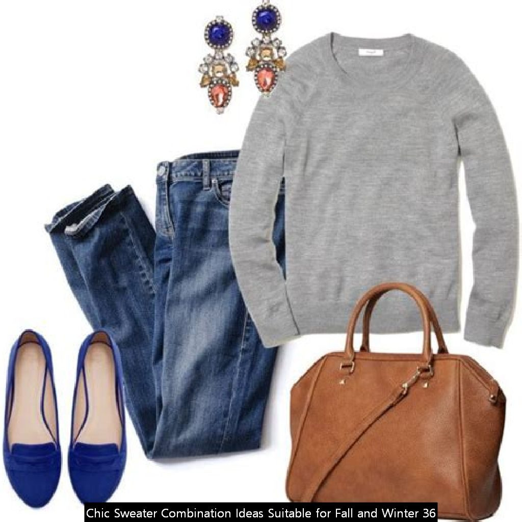 Chic Sweater Combination Ideas Suitable For Fall And Winter 36