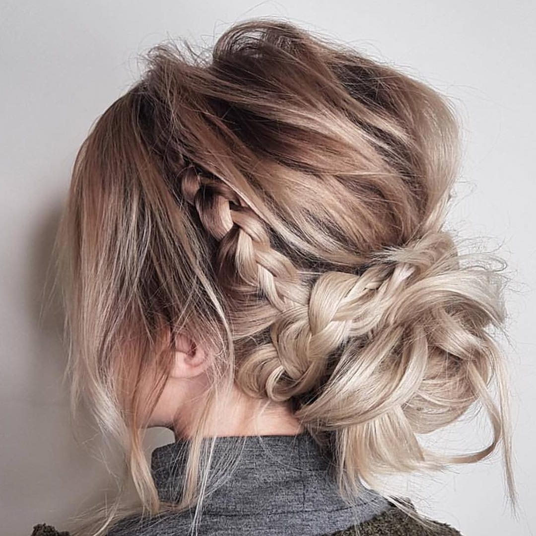 10 Updos For Medium Length Hair From Top Salon Stylists 20+ Amazing Medium Length Updo Hairstyles With Bangs