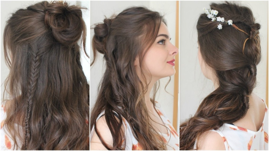 2 Boho Hairstyles | Tutorial Cute Boho Hairstyles For Medium Hair
