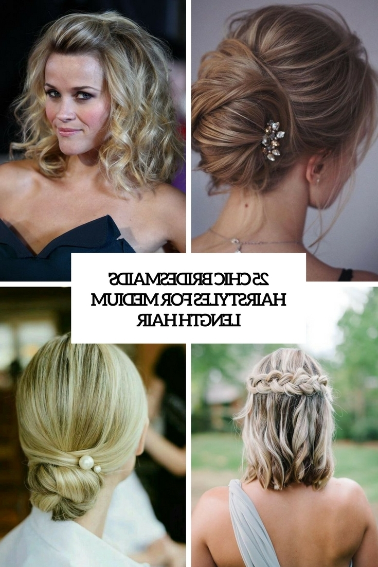 25 Chic Bridesmaids' Hairstyles For Medium Length Hair 20+ Adorable Bridesmaid Medium Hairstyles