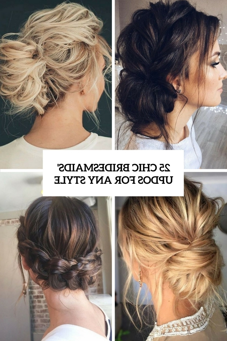25 Chic Bridesmaids' Updos For Any Style Weddingomania 10+ Awesome Bridesmaid Hairstyles For Medium Hair