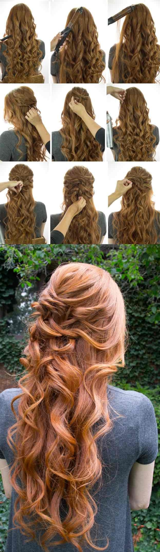 25 Easy Half Up Half Down Hairstyle Tutorials For Prom Half Up Half Down Formal Hairstyles For Medium Hair