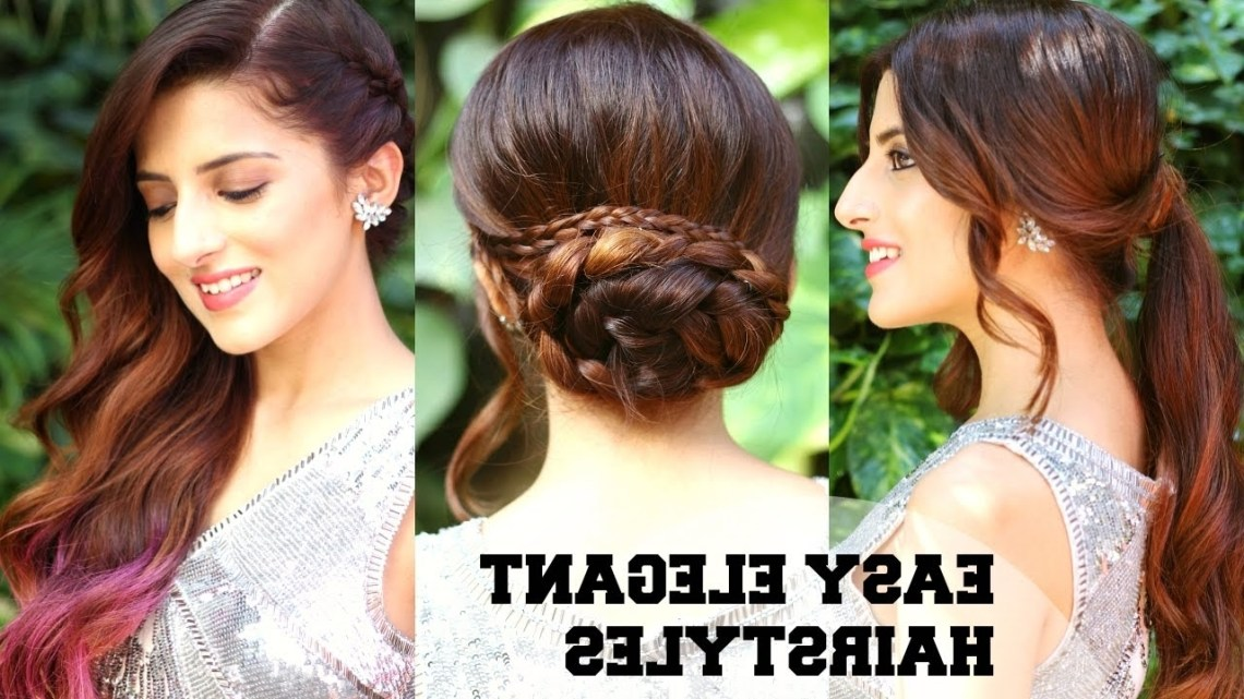 3 Easy Elegant Romantic Hairstyles / Indian Party Hairstyles For Medium To Long Hair/ Bblunt 10+ Cute Party Hairstyles For Medium Length Hair Indian