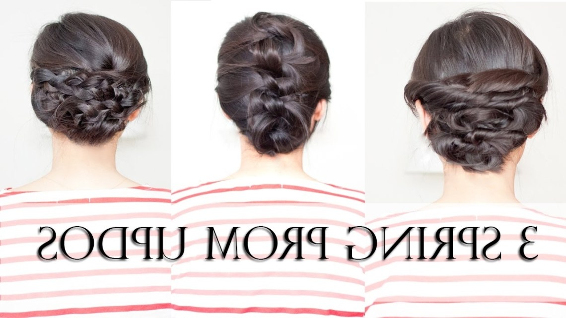 3 Easy Spring Prom Updos For Shoulder Medium Length Hair (No Heat) Easy Prom Hairstyle For Medium Long Hair
