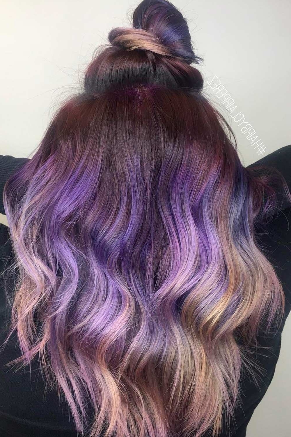 35 Unique Purple And Black Hair Combinations Purple Hairstyles For Medium Hair