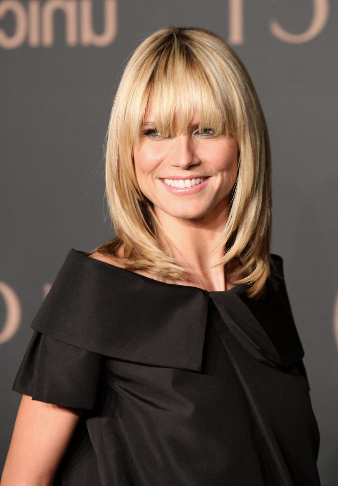 40 Best Hairstyles With Bangs Photos Of Celebrity Haircuts Medium Length Hairstyles With Straight Bangs