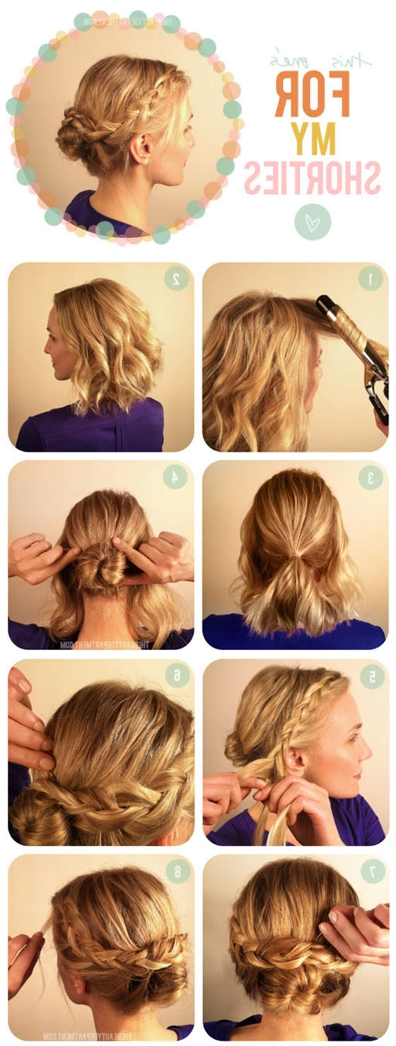 40 Quick And Easy Updos For Medium Hair Medium Updo Hairstyles For Women