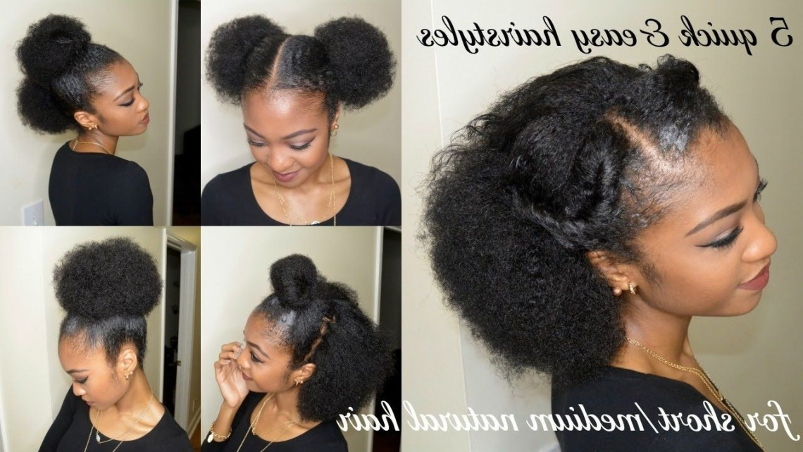 5 Quick & Easy Hairstyles For Short/Medium Natural Hair Blowout Hairstyles For Medium Length Natural Hair