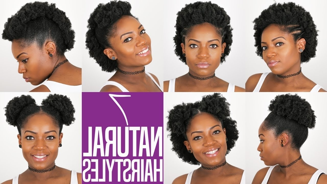 7 Natural Hairstyles (For Short To Medium Length Natural Hair) (4B/4C Hair) Medium Short Natural Hairstyles