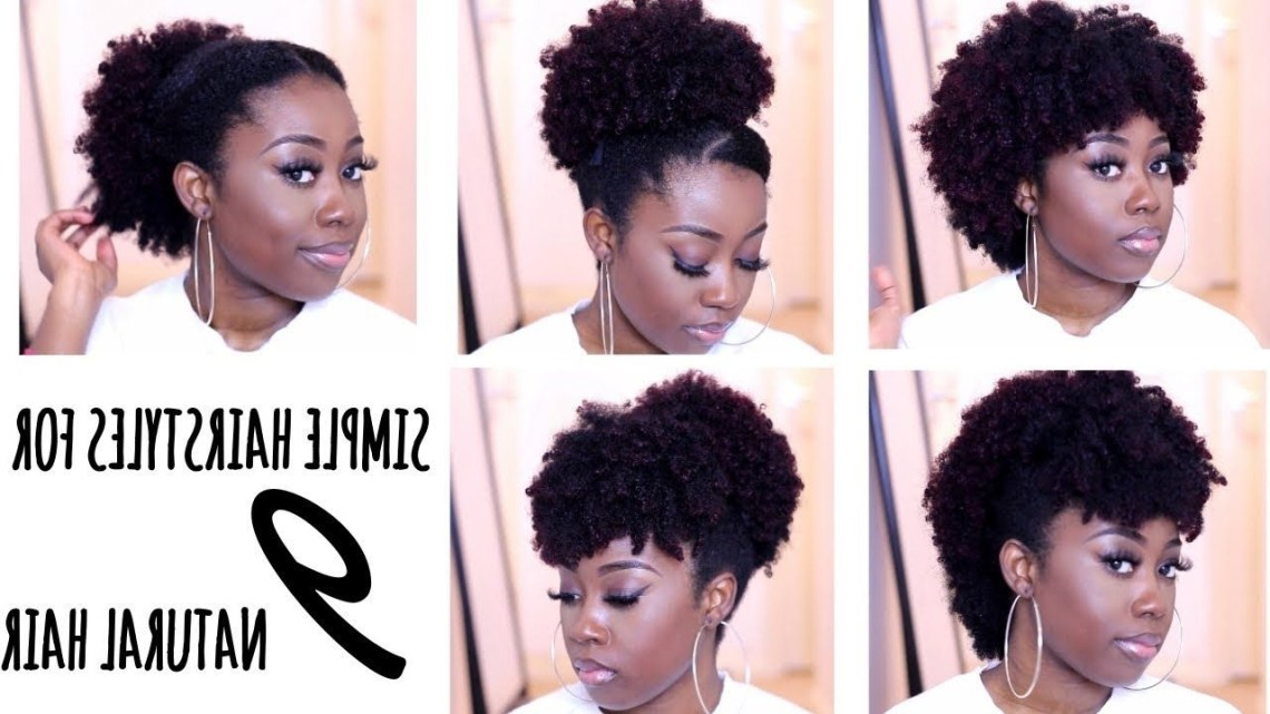 9 Quick Hairstyles For Short To Medium Natural Hair (Type 4A 10+ Stylish Professional Natural Hairstyles For Medium Length Hair