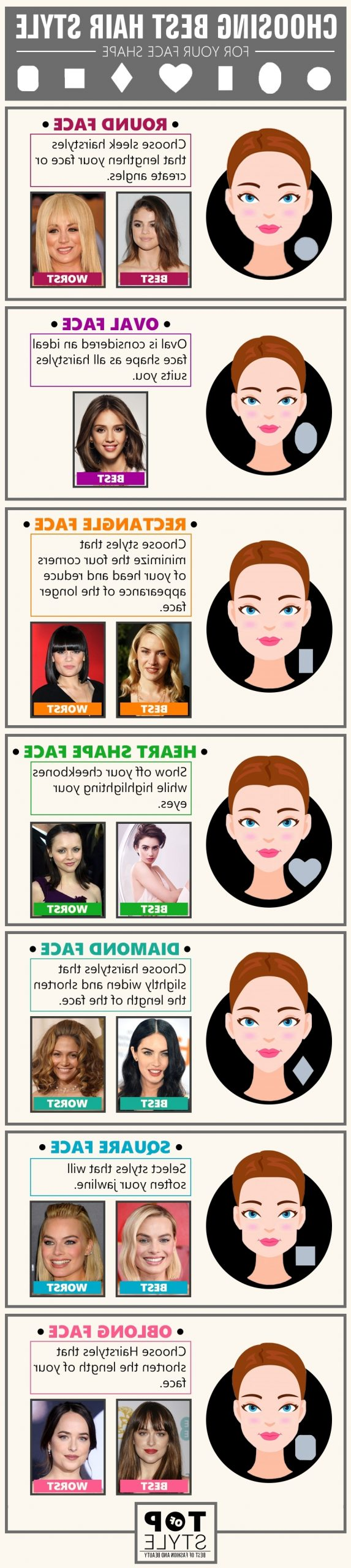 Best & Worst Hairstyles For Different Face Shapes Of Women Medium Length Hairstyles For Diamond Shaped Face