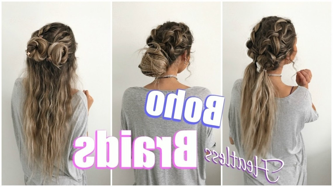 Boho Braids // Quick & Easy Heatless Hairstyles! Cute Boho Hairstyles For Medium Hair