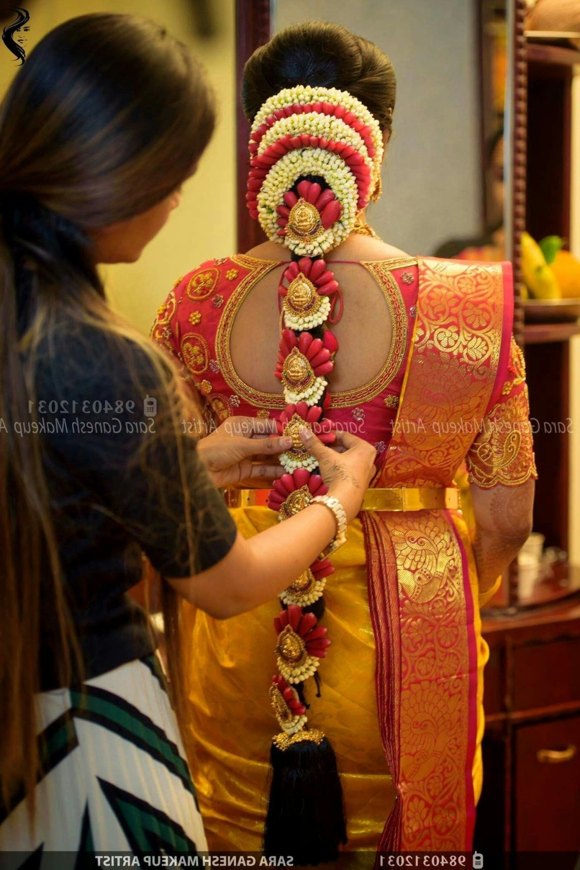 Bride Hair Style | Indian Bride Hairstyle, South Indian South Indian Wedding Hairstyles For Medium Hair