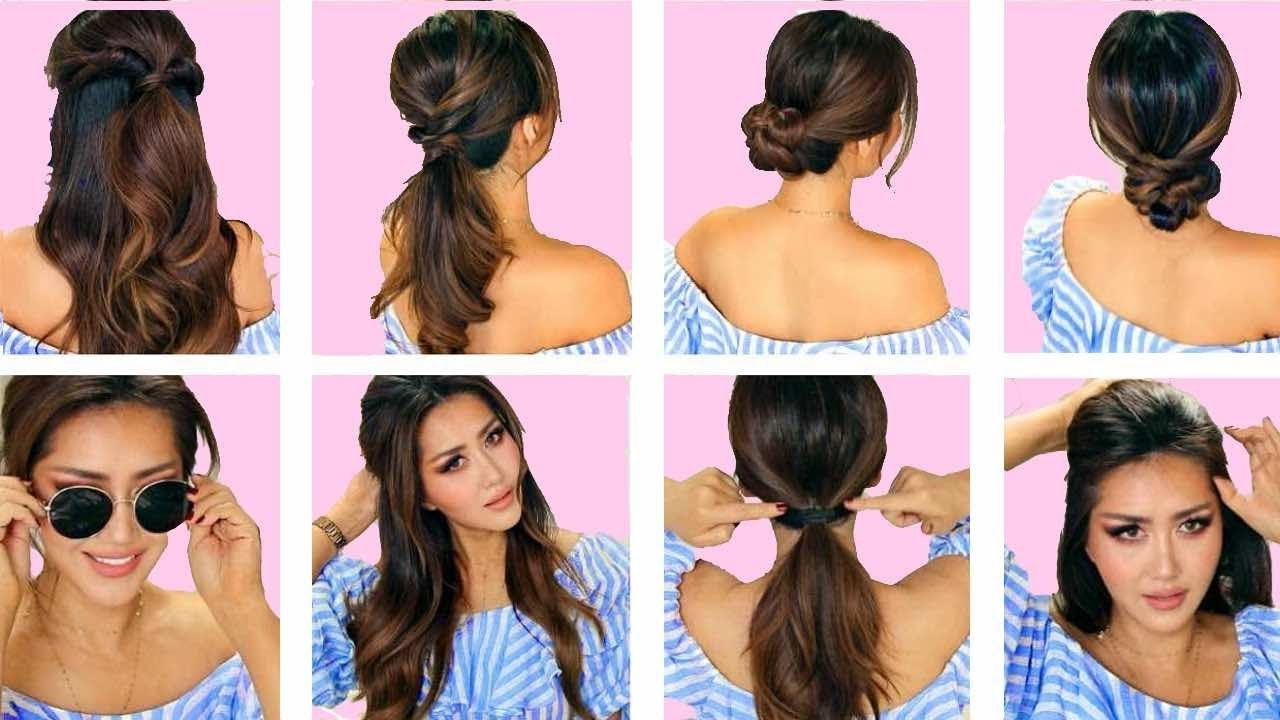 ☆ 1 Min Everyday Hairstyles For Work! 💗 With Puff 💗 Easy Everyday Hairstyles For Medium Wavy Hair