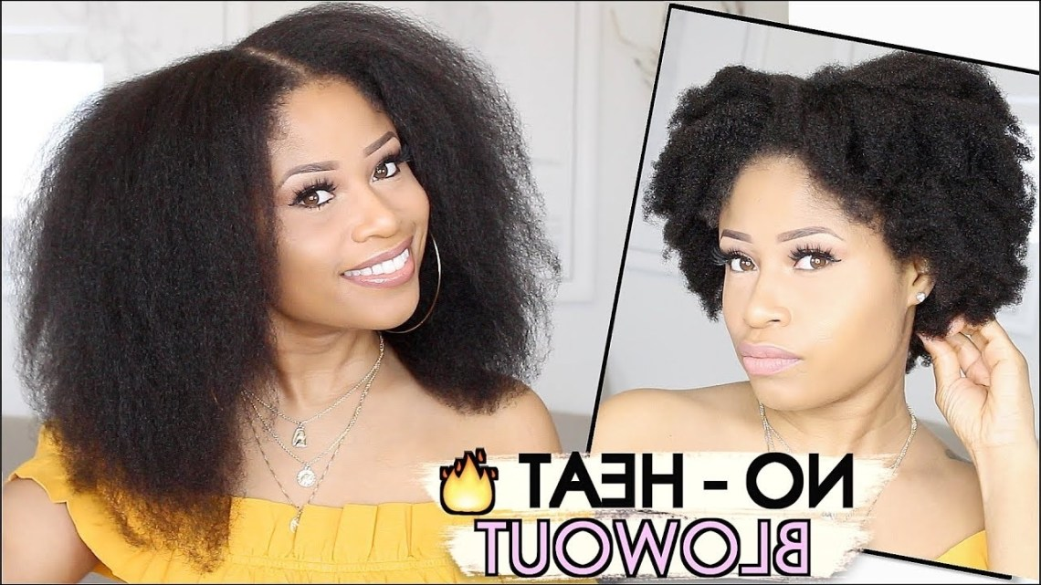 Easy No Heat Blowout On Natural Hair! | How To 40+ Amazing Blowout Hairstyles For Medium Length Natural Hair