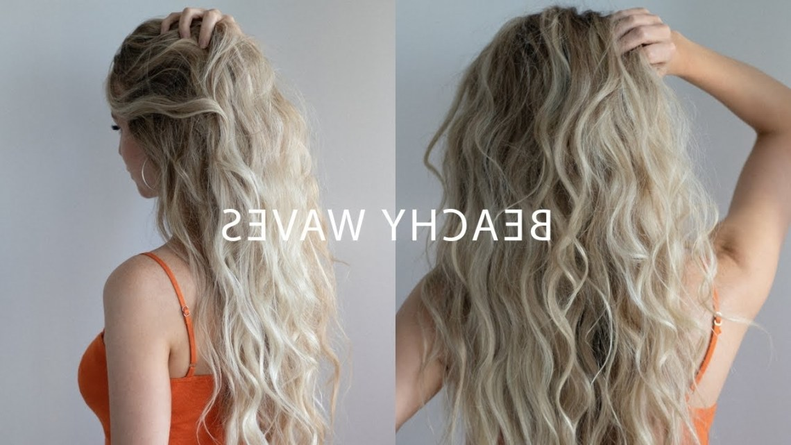 How To: Beach Waves With Flat Iron Hair Tutorial 🍊 ☀️ Hairstyles For Medium Hair With Straightener