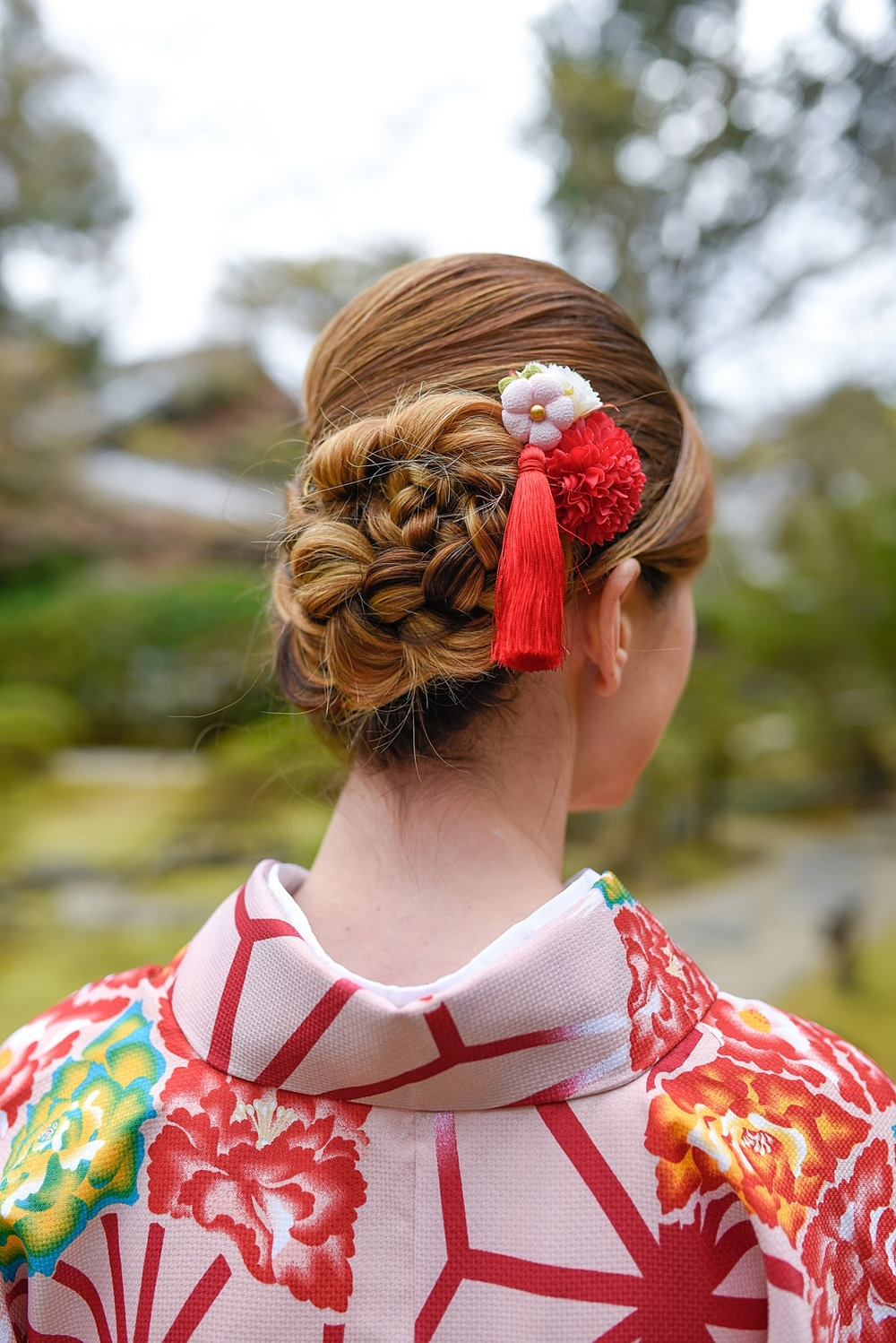 Kimono Rental Guide: Kyoto — This Life Of Travel Kimono Hairstyles For Medium Hair