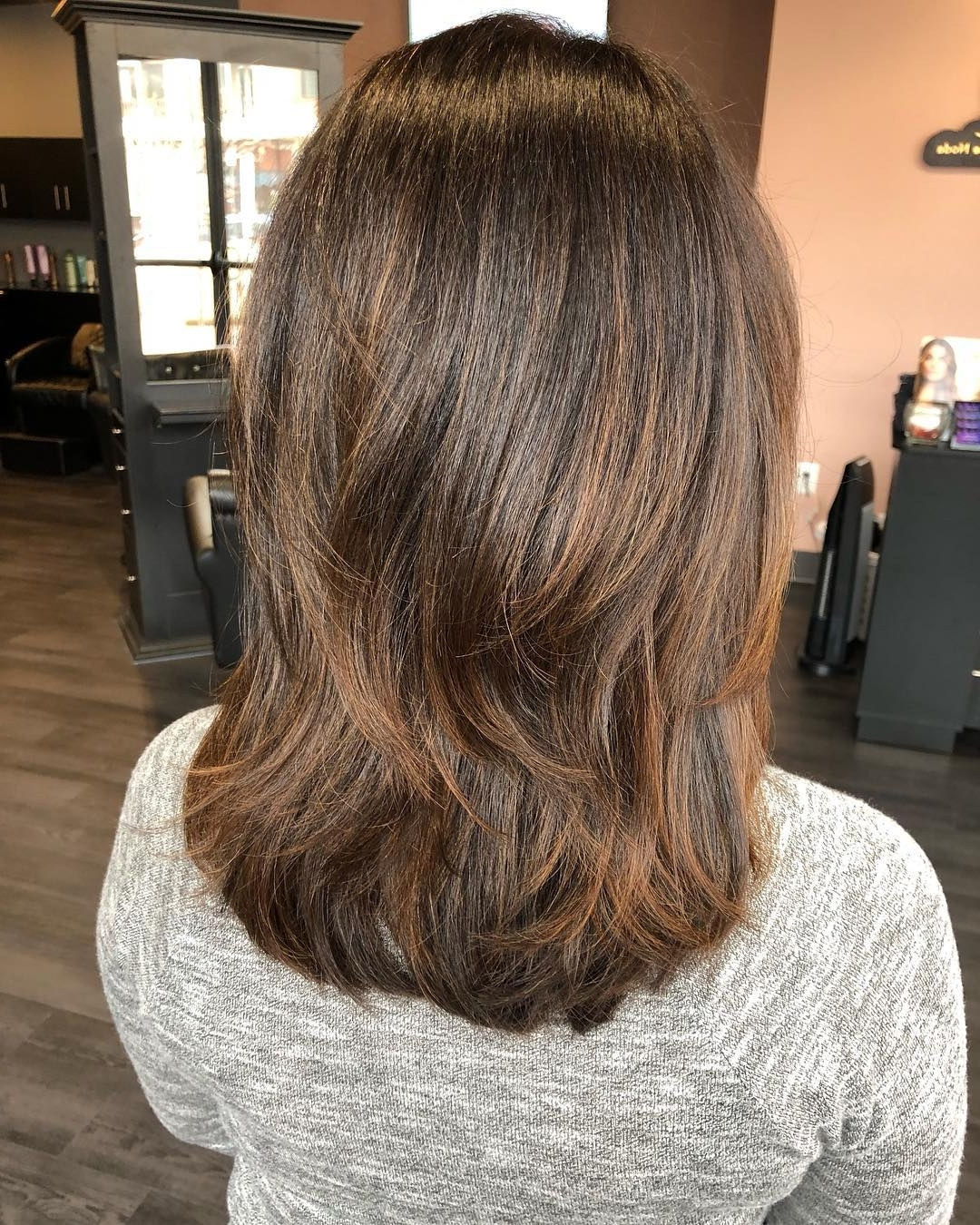 Medium Length Hairstyles For Thick Hair With Bangs Go Medium Length Hairstyles With Bangs Thick Hair