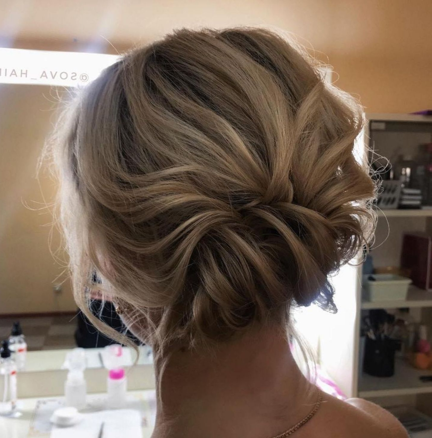 Messy Updo For Medium Fine Hair | Updos For Medium Length 10+ Amazing Wedding Hairstyles For Fine Hair Medium Length