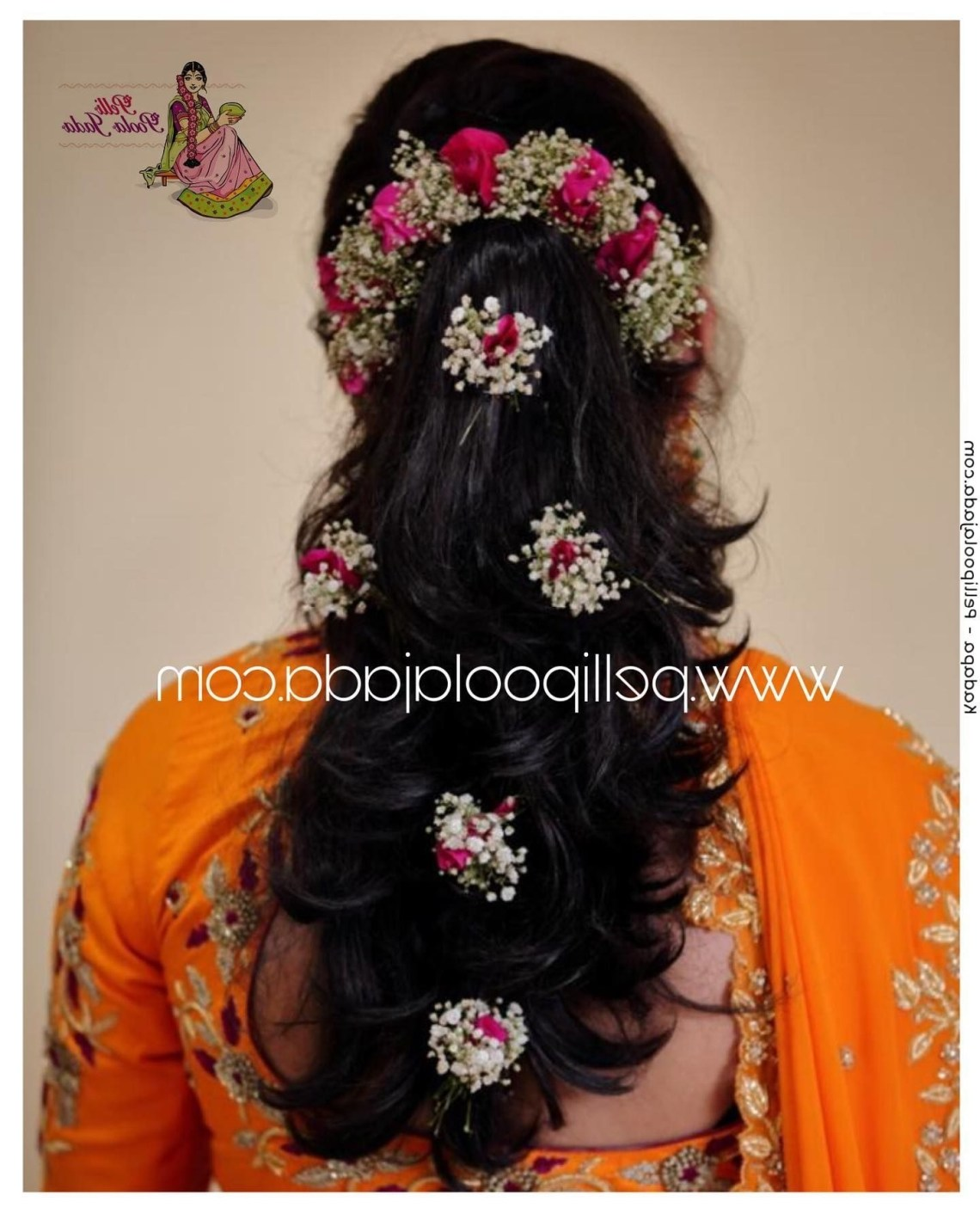 Modern Hair Flowers To Complete Your Engagement, Reception Tamilnadu Hairstyles For Medium Hair