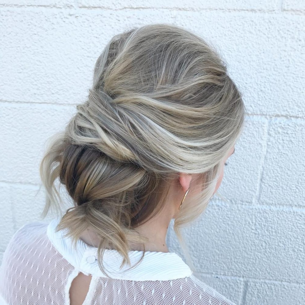 Updos For Long Hair – Cute & Easy Updos For 2021 Medium Length Updo Hairstyles With Bangs