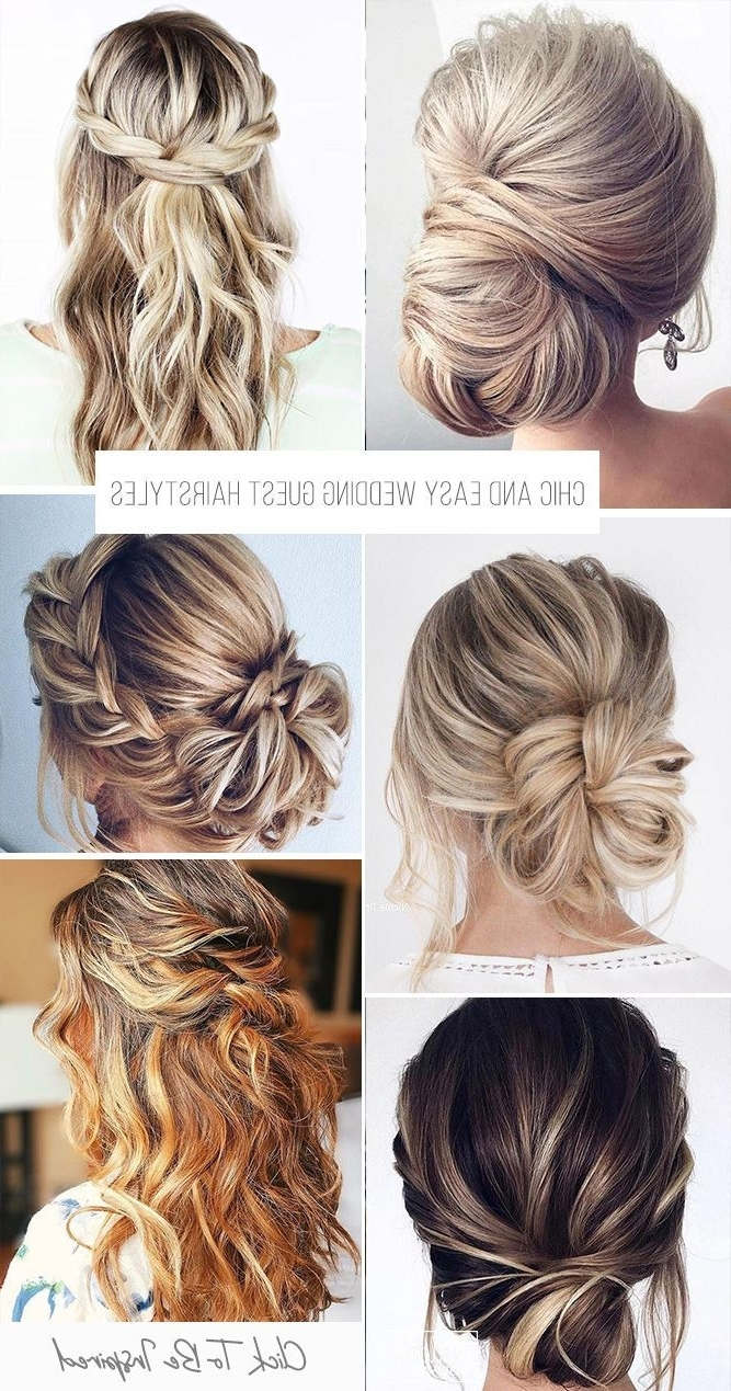 Wedding Guest Hairstyles: 42 The Most Beautiful Ideas Easy Wedding Hairstyles For Medium Hair